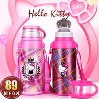 Wholesale Baby Flask - Wholesale- Baby Milk Thermos Cup Water Kettle Thermo Cup Bottle Vacuum Flasks Water Bottles Coffee Mug Insulated Mugs