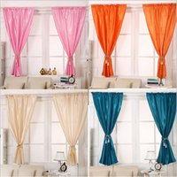 Wholesale 2PCS Blackout Thermal Solid Window Curtain Living Room Bedroom Drape Pleated Panel Home Decor