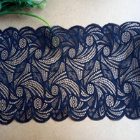 Wholesale Wholesale Fabric Tape Trim - Free shipping 10yds18cm Width Dyed Jacquard Lace trim(JL004)Hollow out Lace Ribbon Decoration Underwear wedding dress trims Accessories tape