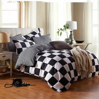 Wholesale Pure Cotton Bedding - Wholesale- Fabric cotton for Queen king bed in a bag sets pure orange colour matching duvet quilt covers 4pcs with sheets home textile