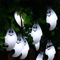 Wholesale Pink Flicker - Ghost Led String Light Halloween Decorations 30 LED Solar Powered Steady Flickering Light Outdoor Lights for Holiday Party Patio