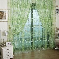 Wholesale print curtains - Pastoral Style Sheer Curtains For Living Room Printing Drapes Beautiful Small Flowers Window Curtain Gauze Multi Colors 11xs CB