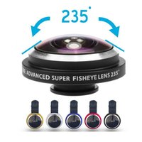 Wholesale Detachable Lens - Universal 235 Degree Super Fisheye 19X Macro 2 in 1 Phone Lens Detachable Clip Camera Fish Eye Selfie Lens for samsung s8 plus