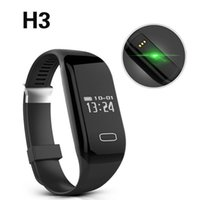 Wholesale Android Phone Vibrate - H3 Smartband Heart Rate Monitore Smart Wristband Bracelet Health Wrist Watch Call Alarm Vibrating for Android&Ios Phone