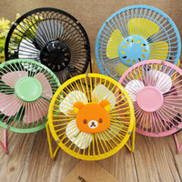 Wholesale Using Fan Laptop - USB Metal Head Fanner Creative Cartoon Modeling Mute Mini Fan Wide Range Of Use Cooling Desktop Power Laptop Fans 7 9yy A R