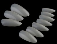 long french tip nails 2018 - Wholesale-120Pcs Nail Art Natural Clear Round End Oval False Nails Fake Nails Tips Long French Manicure Artificial Nails Beauty Products