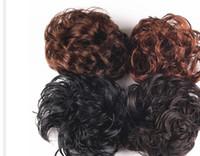 Wholesale Korean Girl Brown Hair - 4 Colors Girl Modern Hairband Korean Style Synthetic Elastic Hair Band Fashion Women Hairpiece Accessories PY025