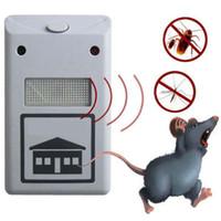 repelente ultrasônico anti mosquito venda por atacado-NOVA RIDDEX eletrônico pest repeller repelente de pragas aid ultra-sônica / eletromagnética Anti Mosquito Mouse Inseto Barata Controle