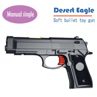 Wholesale Shot Gun Bullets - High Quality Desert Eagle Nerf Airsoft.gun Airgun Soft Bullet Gun Paintball Pistol Toy CS Game Shooting Metal Toy Gun Orbeez
