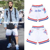 Wholesale Womens Casual Harem Pants - 2017 Fear of god hip hop patterns Hip Hop Street basketball short pants streetwear Justin Bieber High Quality Mens womens Shorts