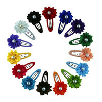 Wholesale asian mix baby online - Children s baby hair ornaments small flowers mini hair clip edge clip small hair clip folder FJ142 mix order pieces a