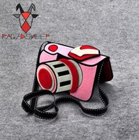 Wholesale Purse Korea Cute - Korea Style Children one shoulder bag Camera Design small coin purse Pouch Super Cute Kids Wallet Money Holder Bags Gift Free Shipping