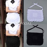 Wholesale 10piece Half Waist Woman s Apron Waitress Kitchen Cooking Cafe Pub Pocket Pinny Frilly