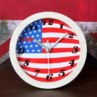 Wholesale imitation electronics resale online - Imitation wood digital table clock alarm clock vintage watches reloj klok home decor electronic desk clock automobile plastic