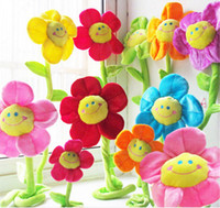 Wholesale Flower Toys - Plus Animals 35cm Special Toy sun flower wedding birthday gift plush toys curtains Home Furnishing