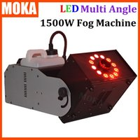 Wholesale Angle Machine - LED multi angle fog machine 1500W RGB color 3 in112*3w led lamp led smoke machine dmx 512 controller 8 minutes heater