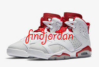 Wholesale Shoes Online Cheap Price - Men basketball shoes cheap air retro 6 Alternate White mens sports designer sneakers online sale real running discount price shoe with box