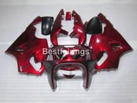 Wholesale 1996 kawasaki ninja plastics for sale - Group buy Top selling plastic fairing kit for Kawasaki Ninja ZX7R wine red black fairings set ZX7R TY21