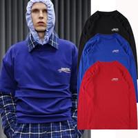 Wholesale Women Fall Shirts - Europe Paris Demna Gvasalia 2017 Fall Mens collection Long Sleeve Men Women Casual T shirt Tee