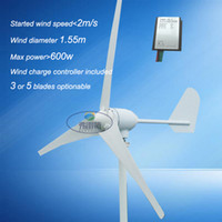 Wholesale Power Wind Generators - small wind turbine horizontal axies 400watt max power 600w 3blades   5blades 12v 24v wind turbine wind generator 50hz three phase