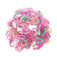 Wholesale Baby Hair Rubber Ponytail - 200pcs lot Size 3CM Child Baby Kids Ponytail Holders Colorful Hair Accessories For Girl Headwear Rubber Hair Band Tie Gum