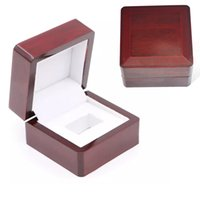 Wholesale Wooden Ring Jewelry Box - Rings Boxes Gift Boxes Championship Ring Jewelry Boxes Wooden Box 6.6*6.6*4.5cm