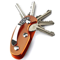 Wholesale Mini Key Chain Clips - Outdoor Portable Smart Aluminum Key Holder Organizer Clip Folder Key Ring Key-Chain Case Pocket Mini Tools B108Q