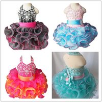 Wholesale National Cupcake Dress - Available in 5 Color Baby Girls Cupcake Mini Dresses Toddler Short Birthday Party Gowns Infant Tutu National Halter Pageant Cupcake Dresses