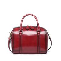 Wholesale Small Mother Bag - 2017 Fashion Women Tote Top-handle bags Brand Ladies Handbag Crossbody Shoulder Bag High Quality Leather Messenger Bag Mother Boston Bag