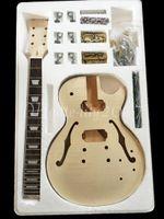 guitarra de mogno venda por atacado-2017 Fábrica personalizado loja de Alta Qualidade Guitarra Elétrica DIY Kit Set Mahogany Corpo Rosewood Fingerboard Liga De Níquel Da Corda