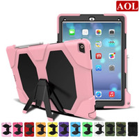 """Wholesale Case Epacket - Free Shipping by ePacket For iPad Pro 12.9"""" Defender shockproof Robot Case military Heavy Duty silicone cover with stand screen protector"""