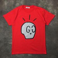Wholesale Skull Plus - 2017 Wholesale clothing skull Men's T-Shirts G and G hip hop clothing mens designer shirts plus size black white red