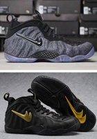 Wholesale Elastic Rubber Ball - 2017 New Men Air Penny Hardaway Men Foams Basketball Shoes Sneakers Metallic Gold Red Foam in Fleece Basket Ball Cheap Running Shoes