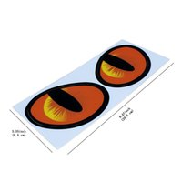 Wholesale Engine Decals - Pair Simulation Cat Eyes Car Stickers 3D Vinyl Decals For Cars Engine Cover Rearview Mirror Decoration