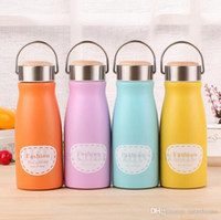 Wholesale Thermos Vacuum Pot - Baby Thermos Cup Kids Candy Color Stainless Steel Vacuum Cup Children Fashion Letter Printed Pot-bellied Cup Bottle Students Gifts New H572