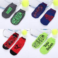 Wholesale Cute Table Tennis - 2017 Fashion Trampoline Sports Socks Men and Women Skid Resistance Yoga Socks Cute Children Point Rubber Foot Socks 6 Color Wholesale