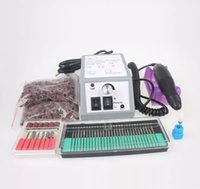 bandes de ponçage de manucure achat en gros de-Kit de manucure de jeu de manucure Nail Art Kit de jeu de machine de stylo de pédicure avec elle avec des bandes de ponçage supplémentaires en céramique
