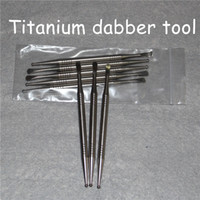 wholesale High Quality Gr2 Titanium Oil Dabber Nail Wax Oil Picker For Smoking Vapor Scoop Ti Content 99% 110mm Dabber Tools