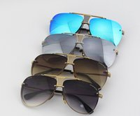 Wholesale Popular Eyewear Quality - Top Quality Popular Sunglasses Limited Edition Decade Two Sunglasses Fashion Pilot Frame For Men Women Retro Steampunk Mirrored sun eyewear