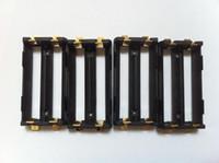soporte li ion al por mayor-Soporte para batería SMT Keystone de alta calidad Caja de bricolaje Mod li ion ni-mh Soporte para batería lifepo4 18650 2 * 18650 batería con fichas SMT