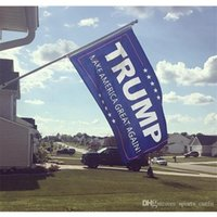 football flags wholesale Australia - 90*150cm Donald Trump 3x5 Foot Flag 2016 Make America Great Again Donald for President Indoor Outdoor Banner By DHL Free Shipping