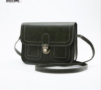 Wholesale Square Gold Tone Beads - Fashion PU shoulder small square bag fall new retro hand diagonal female package