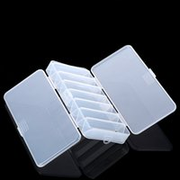 Atacado - Double Sided 14 compartimentos Fishing Lure Bait Box Boxing Box Box Case 19 * 8.5 * 3.1cm