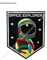 Patches space exploration - 3 quot Space Explorer Patch Iron On Sew Astronaut Logo Planet Exploration mission Movie TV Costume Embroidered Emblem applique