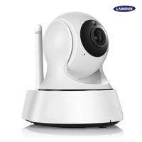 wifi ip camera оптовых-Главная безопасность беспроводной мини IP-камера видеонаблюдения Wifi 720p ночного видения CCTV камеры монитор младенца