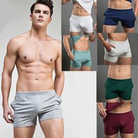 Wholesale Sexy Mens Gym Pants - Wholesale-Mens Sport Shorts casual fitness gym men workout cotton skinny Running fight Shorts Home pants Fashion sexy underwear Plus Size