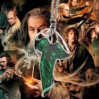film elves achat en gros de-bi-capable gothique le seigneur des anneaux broche feuille elf collier vert feuille pendentif femmes hommes film bijoux