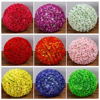 Wholesale free shopping malls - 60CM Wedding Shooting Props Kissing Balls Artificial Flower Ball Ornament Shopping malls opened Decoration Free Shipping