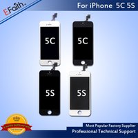 Wholesale Iphone 5c Screen Replacement White - Black & White LCD Display Touch Screen Digitizer Full Assembly For iPhone 5S 5C Replacement Repair Parts & Free Shipping