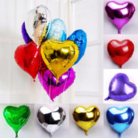 Wholesale Heart Shaped Balloons Blue - 10pcs lot 10 inch Latex balloon Helium heart-shaped balloons Wedding Party Birthday Balloons high quality factory price